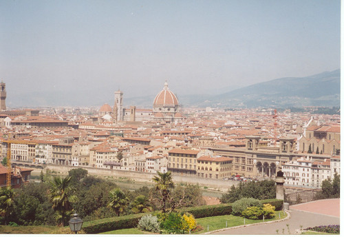 Florence Piazza Michelangelo Italy 1993