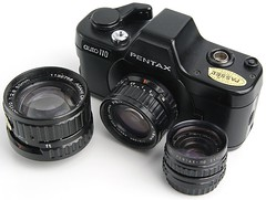 Auto 110 (the other Martin Taylor) Tags: camera slr pentax 110 whitebackground
