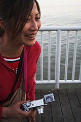Karen (neilbruder) Tags: vandigicam newwestminster quay momo happycanadaday portrait smile smiling