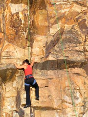 Rock Climbing (Cyron) Tags: 2005 cliff geotagged photo australia brisbane rockclimbing cyron kangaroopoint pc4169 auspctagged geolat27478341 geolon153034058