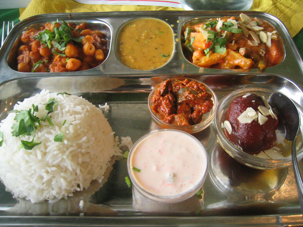 thali - with naan out of shot..