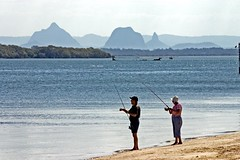 Fishing on Bribie Island by jimmyharris, on Flickr