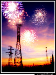 Electric Sparks 2 (scottwills) Tags: fireworks july fourth independance day scott wills scottwills pylons sparks electricity