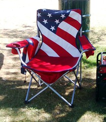 Rest your patriotic buns here! (Esther17) Tags: blue red white stars chair stripes seat fourthofjuly 4thofjuly independenceday foldupchair
