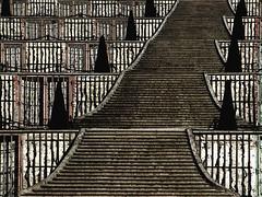 The Stairs of Sanssouci (Maharepa) Tags: bw sanssouci potsdam germany stairs sepia maharepa top20bw brandenburg treppe stufen schwarz weiss weiß