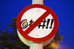 (No Cursing??) Sign by christopherdale
