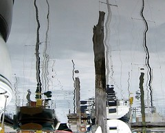 reflected boats (Susan NYC) Tags: ri reflection lines reflections boats rhodeisland illusions ninas
