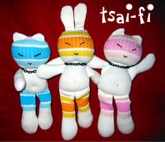 """Sock NinJas"" (tsai-fi) Tags: mos july 2005 sock monkeys ninjas tsaifi bunny kitty handmade sockdoll mosjuly2005"