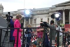 Lights! Camera! Action! (squaregraph) Tags: london olympics 2012 trafalgar square bid winner newsreader presnter television pink bbc news sian williams