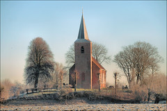 Wintermorgen Eenum (TeunisHaveman) Tags: eenum gemloppersum kerk provgroningen dutchchurch dutchlight hollandslicht geotagged geotag thenetherlands dutchlandscape hollandslandschap outdoor landscape landschap dutch light licht dutchphoto lucht sky winter