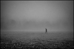 Numbness (Petricor Photography) Tags: milan milano street photography fog mist misty foggy weather people candid shadows numbness park nature urban black white blackandwhite canonpersonalconnection