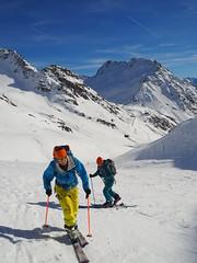 Going Up (David Roberts 01341) Tags: skiing skitouring skirandonnee alps switzerland suisse italy italia grandsaintbernard offpiste