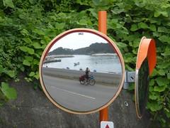 In the mirror (Stop carbon pollution) Tags: japan 日本 touhoku 東北 miyagiken 宮城県