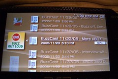 RSS Podcast on Sony PSP closeup (mattadata) Tags: sony psp rss podcast cnet buzzoutloud