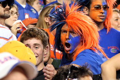 Gator Fan (gtmcknight) Tags: universityofflorida ufl gainesville florida football gators floridastateuniversity fsu seminoles schoolspirit facepaint orangeandblue