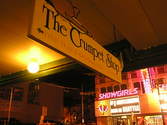 (To An Englishman) They're Both Crumpet Shops (Dave Gorman) Tags: seattle stripclub washington neon crumpet ooer showgirls bennyhill
