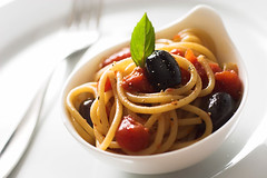 amuse (speedM) Tags: pasta food olives basil tomato spaghetti interestingness cookedathome