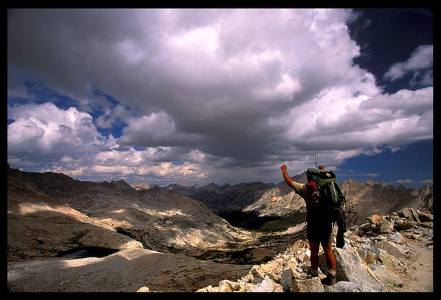Approaching Forester Pass, JMT by Buck Forester