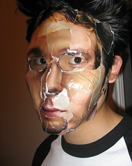 Halloween Mask, 2005 (huberton) Tags: halloween costume halloweencostume sixfeetunder sfu 2005 gq mask scary stare fear portrait collage eyes creepy