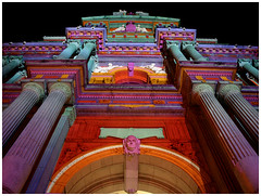 City Hall (paul drzal) Tags: show street old city light urban building art philadelphia architecture night buildings hall downtown centercity projection philly