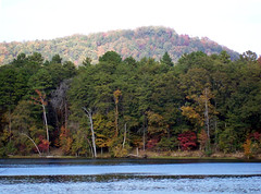 Morrow Mtn. State Park (James Willamor) Tags: park autumn trees mountain lake fall nature water forest river nc state hiking north trail shore carolina montgomery tillery morrow uwharrie stanly