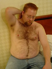 chub cub (tex - just tex) Tags: hotel jeans hairy goatee glasses furry furrball fattie cub chub belly armpits blond