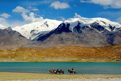 nomads (.michaelchung) Tags: china travel sky horses lake snow mountains wow ilovenature xinjiang  karakul camels tranquil travelers nomads tashkurgan onephotoweeklycontest