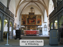 castle-ch-altar (Mark Gstohl) Tags: church germany altar martinluther wittenberg castlechurch