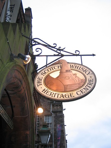 The Scotch Whisky Heritage Tour, Edinburgh - sign outside