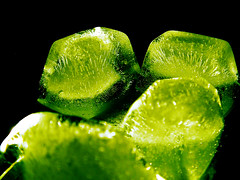 Kryptonite (John  McDonald) Tags: green ice water bubbles cube solid s3000 johnmcdonald interestingness24 i500 djxtremeaudiophile