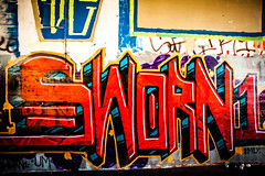 Sworn 1 (Thomas Hawk) Tags: alameda california eastbay usa unitedstates unitedstatesofamerica graffiti fav10