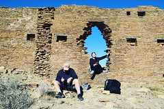 We made it (Rosalynd.Dale) Tags: nm newmexico hike adventure explore chacocanyon puebloans anasazi navajo native nativeamerican sacred pilgrimage sandstone tan blue desert ancient daytrip roadtrip outdoors unesco heritage history archeology nauture walk