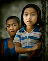 What lies ahead? (mykl mabalay) Tags: poverty friends portrait smile face kids photoshop canon children happy 350d kid eyes child play sad emotion philippines digitalart happiness images filipino filipina headshots pinoy mykl myklmabalay superaplus aplusphoto