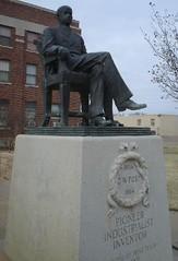 C. W. Post Statue (Post, Texas) (courthouselover) Tags: texas post tx westtexas courthouses countycourthouses ushighway84 garzacounty chdettxgarza texaspanhandleplains