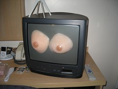 Tits on the Telly (Jo Angel) Tags: party liverpool hotel travelodge joanna transpocalypseii defaultflickricon