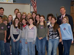Gov. Tom Vilsack with Students
