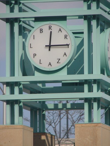 Library Plaza's Clock