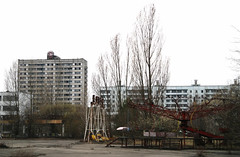Children's park, Pripyat, Ukraine (NiccollsDP) Tags: abandoned playground accident radiation ukraine ghosttown meltdown deserted sovietunion fallout chernobyl deadcity pripyat nucleardisaster paulniccolls