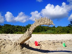 sand dinosaur/ secret beach #1 - by sandcastlematt