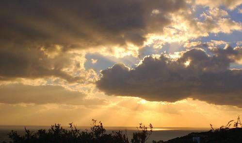 afternoon sky, at Kurion