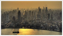 Megalopolis (staffh) Tags: china city sunset urban color colour building tower colors skyline skyscraper smog cityscape colours afternoon skyscrapers shanghai dusk towers staff metropolis pearl  oriental pudong shanghaiist density dense huangpu puxi lujiazui urbanity abigfave superhearts lpskyline