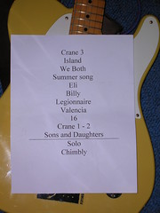 The Decemberists' setlist, Sheffield Leadmill, 2nd Feb 2007