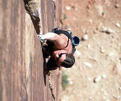Rock Lobster (joeauer) Tags: utah crack climbing velvia moab rockclimbing indiancreek splitter