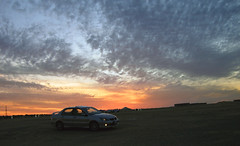 Sunset 2 (bO_s3ayD) Tags: sunset desert kuwait ahmadi lancerevo