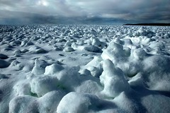 on the surface of the moon (snapstill studio) Tags: winter snow ice landscape michigan lakemichigan petoskey littletraversebay martinmcreynolds impressedbeauty
