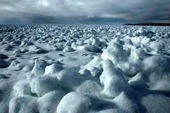 on the surface of the moon (snapstill studio) Tags: winter snow ice landscape michigan lakemichigan petoskey littletraversebay martinmcreynolds impressedbeauty