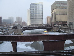 Chicago River From Brown Line train