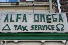 tax season (rachaelvoorhees) Tags: sign washingtondc dc omega alfa service tax alpha unbelievable mtpleasant alfaomega taxservice