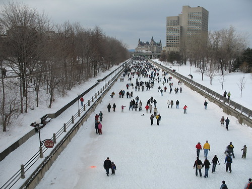 Winterlude skate on the canal