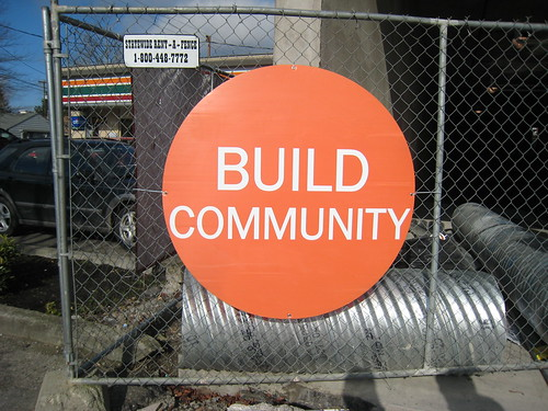 build community sign uploaded by whizchickenonabun on flickr